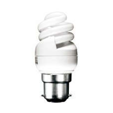 8w (40w) Bayonet Ultra Mini Low Energy Light Bulb (Daylight)