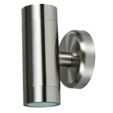 Brushed Stainless Steel Twin / Dual Illumination Wall Light