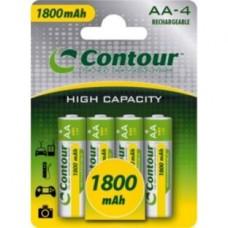 Contour 4 x AA 1800mAh NiMH Rechargeable Batteries