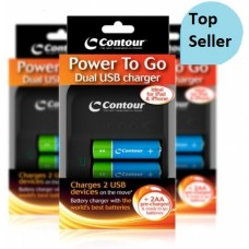 Contour Battery Charger - Power 2 Go USB + 2 AA