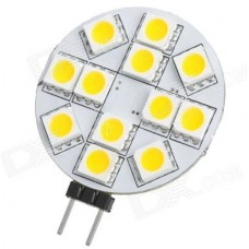 G4 12V - 12 LED Circular / Disc Shape Light Bulb in Daylight White