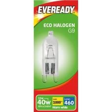 G9 - 33W (40W Equiv) Eco Halogen Energy Saver Capsule Light Bulb