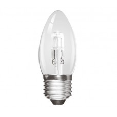 Eco Halogen 42W (60W Equiv) Edison Screw (E27) Candle Light Bulb