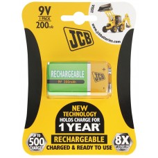 JCB 9V PP3 NiMH 200mAh Rechargeable Battery