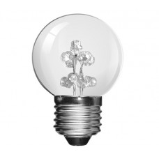 White 9 LED 1W (5 Watt) Edison Screw Low Energy Small Golf Ball Light Bulbs